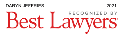 Daryn Jeffries - Recognized by Best Lawyers 2021