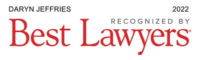 Daryn Jeffries - Recognized by Best Lawyers 2022
